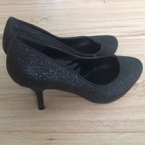 Aldo Black Sparkly Heels